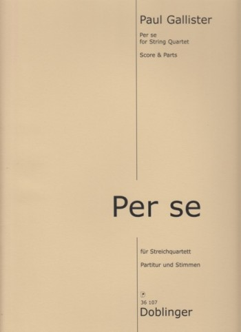 Image for Per se for String Quartet - Score & Parts