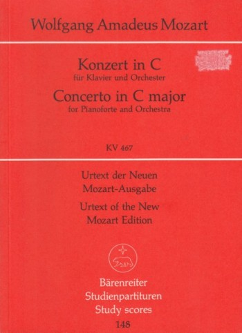 Image for Piano Concerto No.21 in C major, KV 467 - Barenreiter Study Score