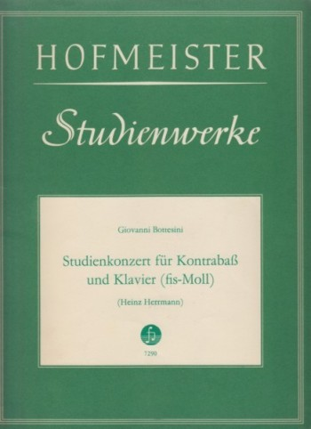 Image for Double Bass Concerto No.1 (Studienkonzert) in f sharp minor