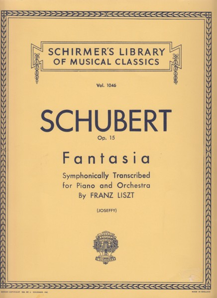 "Image for Fantasy in C ""The Wanderer"" D.760 - 2 Pianos"