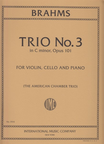 Image for Piano Trio No.3 in c minor, Op.101 - Set of Parts