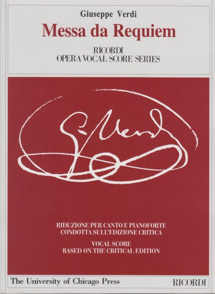 Image for Messa da Requiem - Vocal Score Critical Edition