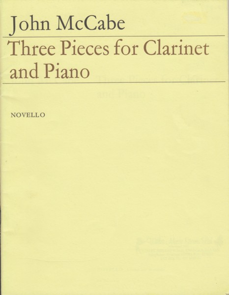 Image for Three Pieces for Clarinet & Piano