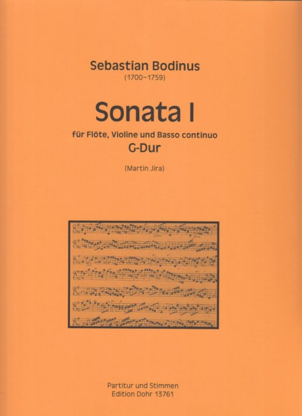 Image for Sonata No.1 in G for Flute, Violin and Basso Continuo - Score and Parts