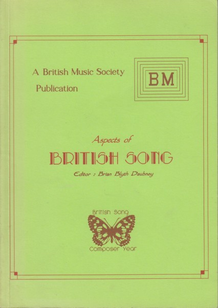Image for Aspects of British Song, a miscellany of essays.