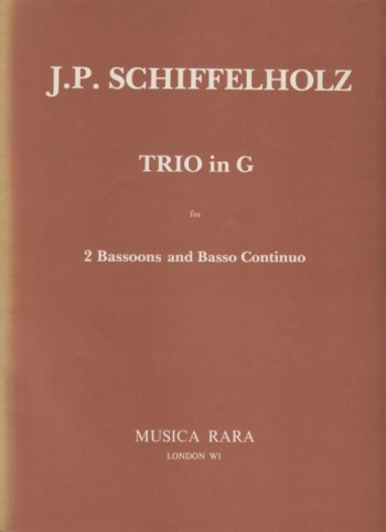 Image for Trio in G for 2 Bassoons and Basso Continuo - Set of Parts