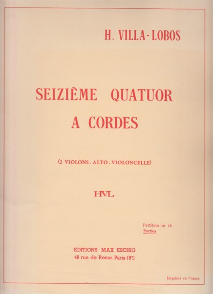 Image for String Quartet No.16 - Set of Parts