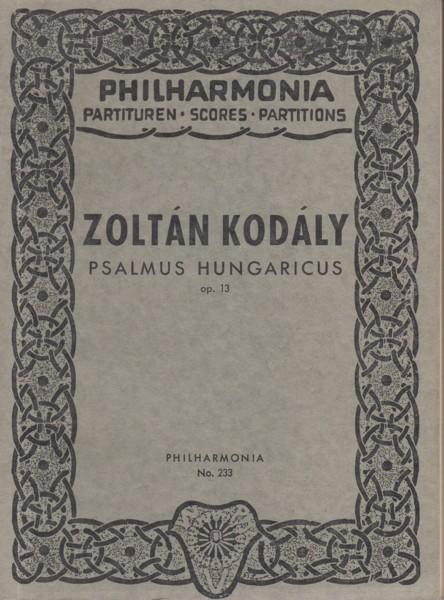 Psalmus Hungaricus, Op.13 - Study Score