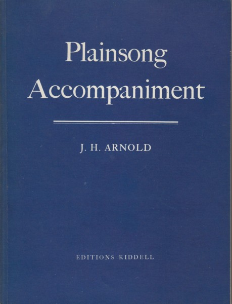 Image for Plainsong Accompaniment