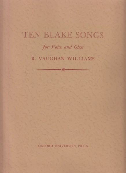 Image for Ten Blake Songs for Voice and Oboe