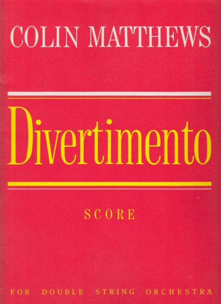 Image for Divertimento for Double String Orchestra (1982) - Full Score