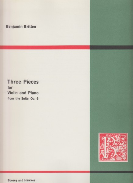 Image for Three Pieces for Violin and Piano from the Suite Op.6