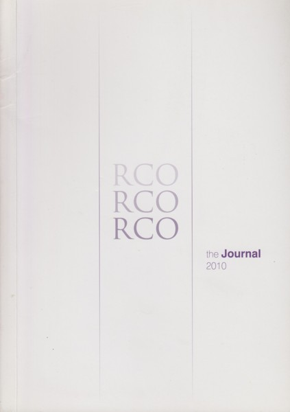 Image for Journal of the Royal College of Organists Volume 4 (New Series), 2010