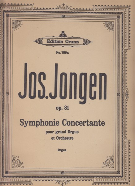 Image for Symphonie Concertante pour Grand Orgue et Orchestre, Op.81 - Solo Organ Part
