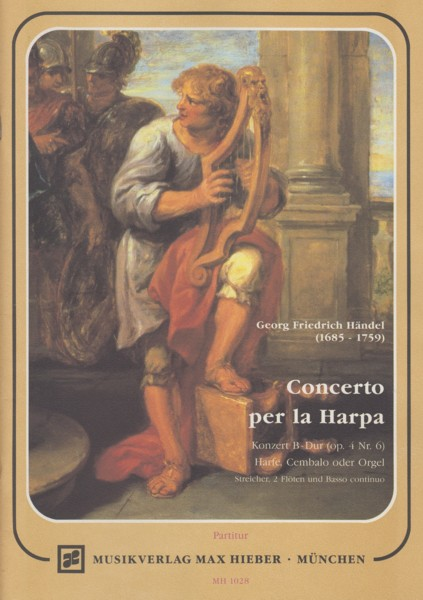 Concerto for Harp in B flat, Op.4/6 - Full Score & Set String Parts