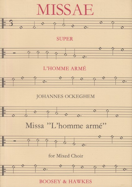 "Image for Missa ""L'homme armé"" - Mixed Choir (SATB) A Capella"