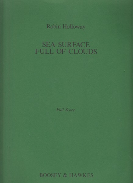 Image for Sea-Surface Full of Clouds, Op.28 - Full Score