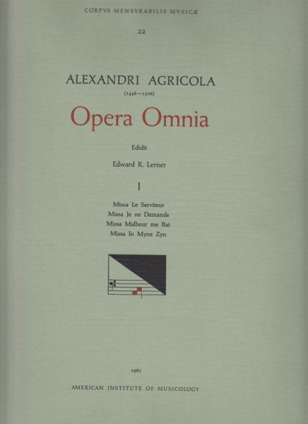Image for Opera Omnia Vol.1 - Masses