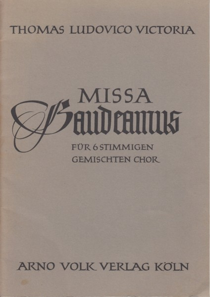 Image for Missa Gaudeamus for 6 part mixed voice choir