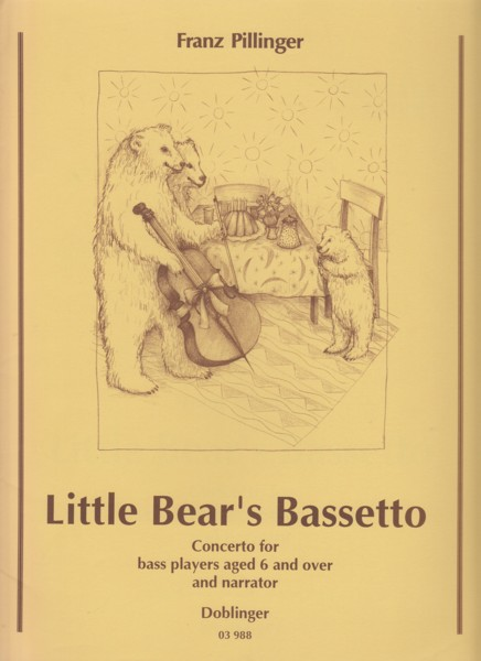 Image for Little Bear's Bassetto - Concerto for Bass players aged 6 and over and narrator