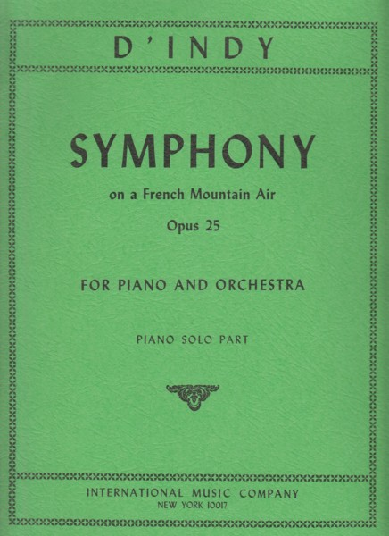Image for Symphony on a French Mountain Air, Op.25 - Piano Solo Part