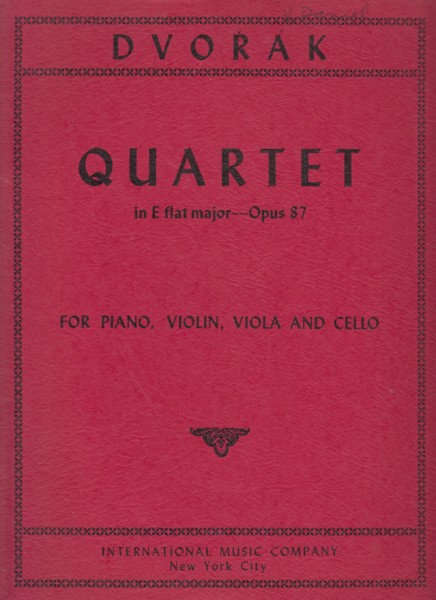 Image for Piano Quartet in E flat, Op.87 - Set of Parts