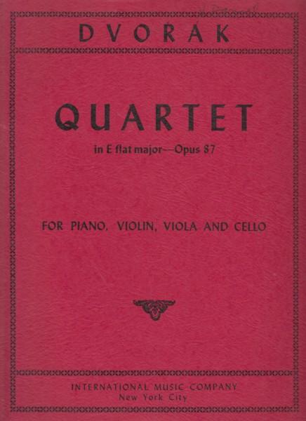 Piano Quartet in E flat, Op.87 - Set of Parts