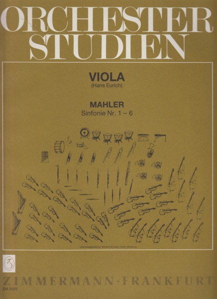 Image for Symphonies Nos. 1 - 6 ~ Orchestral Studies for Viola