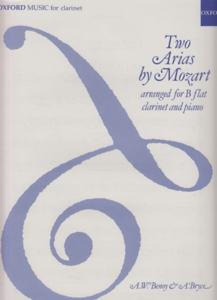 Image for Two Arias arranged for B flat Clarinet and Piano