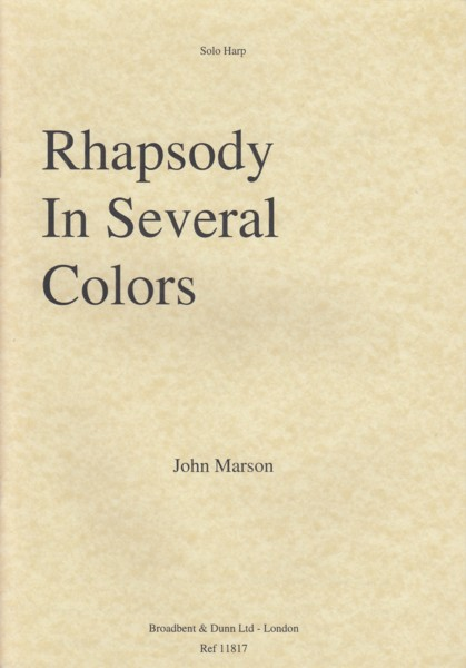 Image for Rhapsody in Several Colors - Solo Harp