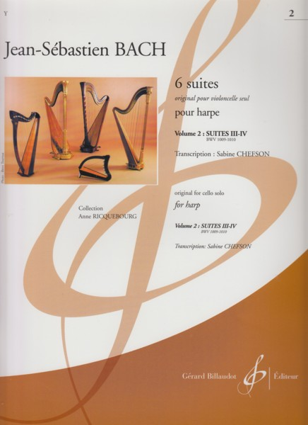Image for Cello Suites transcribed for Harp, Volume 2: BWV 1009 & 1010
