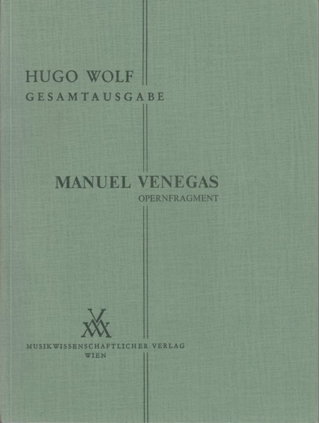 Manuel Venegas, opera fragment - Vocal Score