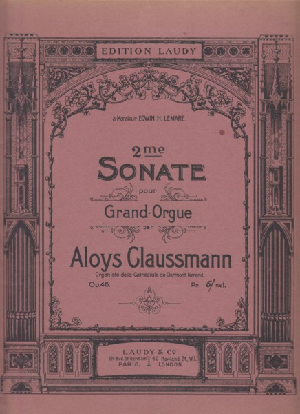 Image for Sonata No.2 for Grand Organ, Op.46