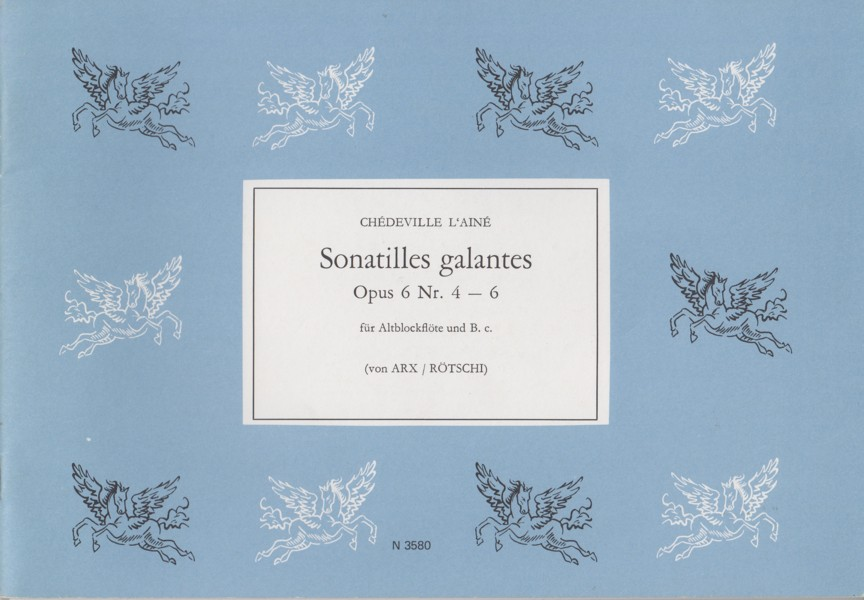 Image for Sonatilles Galantes for Treble Recorder & B.c., Op.6 Nos. 4 - 6