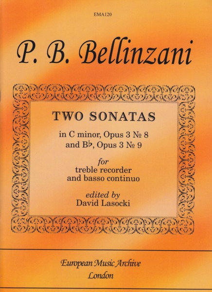 Image for Two Sonatas for Treble Recorder & Basso continuo.