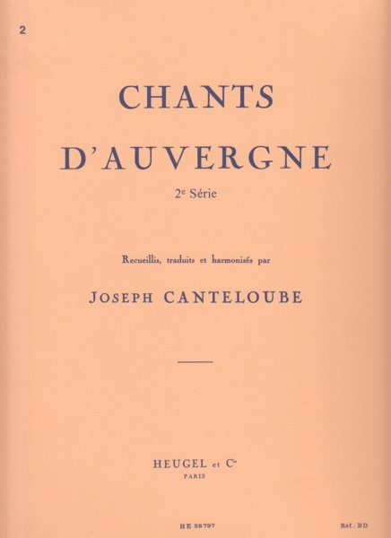 Image for Chants d'Auvergne 2nd Series - Voice & Piano