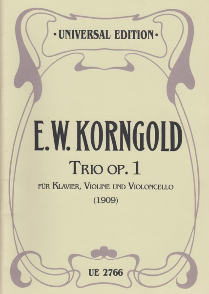Image for Trio for Piano, Violin and Cello, Op.1 (1909) - Set of Parts