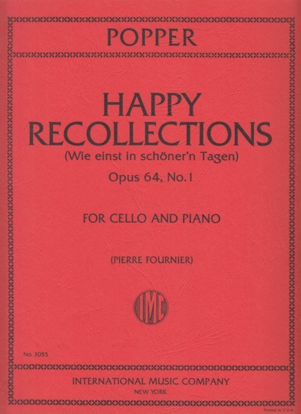 Image for Happy Recollections, Op.64/1 - Cello & Piano