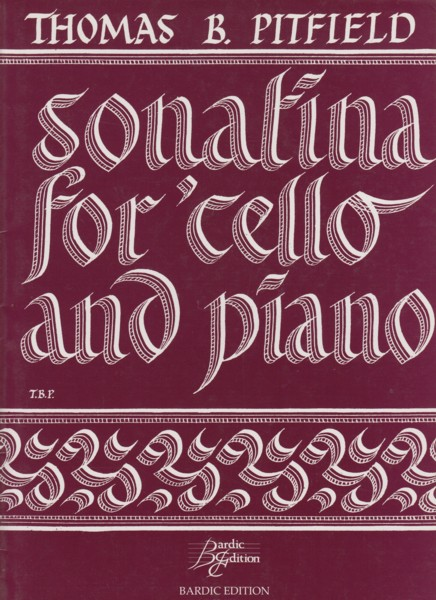 Image for Sonatina for Cello and Piano