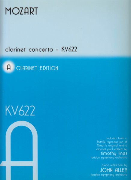 Image for Clarinet Concerto in A major, K.622 - Clarinet & Piano