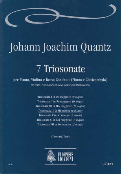 Image for Trio Sonata IV in E minor for Flute, Violin and Basso Continuo - Score & Parts