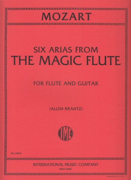 Image for Six Arias from The Magic Flute - Flute & Guitar