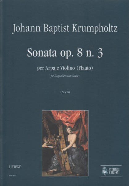 Image for Sonata for Harp and Violin (Flute), Op.8/3 - Set of Parts