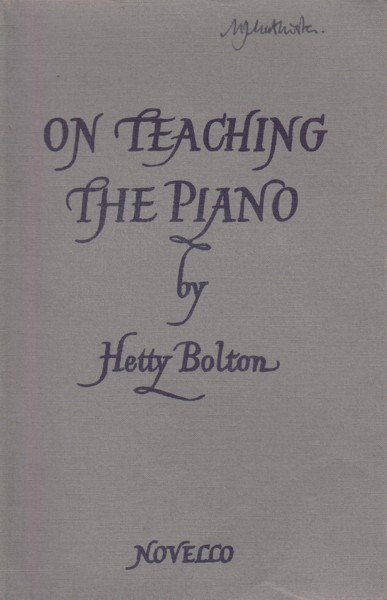 Image for On Teaching the Piano