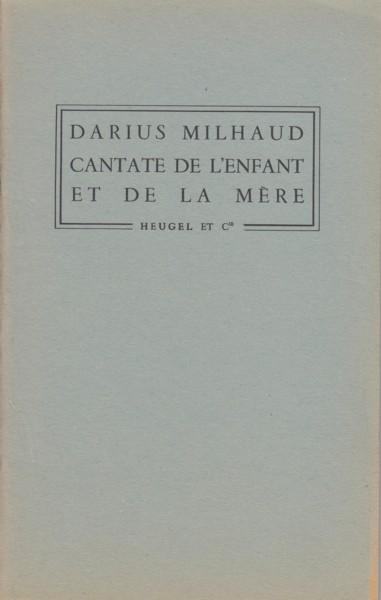 Cantate de l'Enfant et de  la Mère, Op.185 -  Full Score