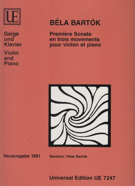 Image for Première Sonate in three movements (1921) for Violin & Piano.