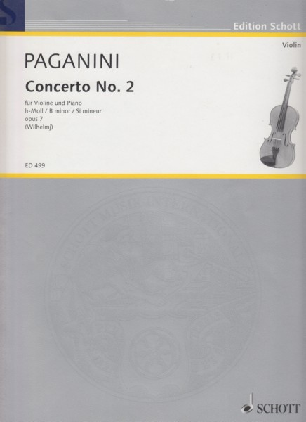 Image for Violin Concerto No.2, Op.7 - Violin & Piano