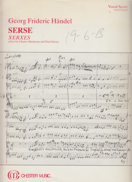 Image for Serse (Xerxes), Opera in Three Acts - Vocal Score