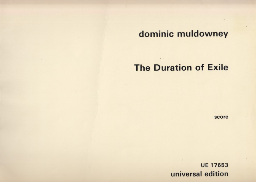 The Duration of Exile - Full Score
