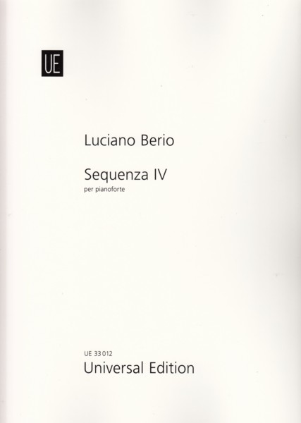 Image for Sequenza IV for piano